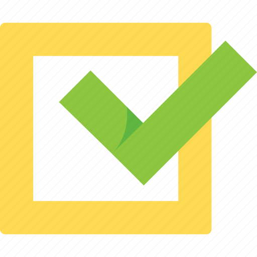 check, checkbox, checked, good, green, mark, ok, step, steps, success, tick, verified, yellow icon