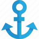anchor, basic, link, marine, nautical, port, sea, seaport, ship, transportation, url icon