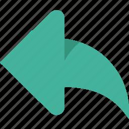 arrow, arrows, green, left icon