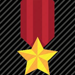 achievement, award, awards, badge, best, medal, reward, star, trophy, win, winner, winners icon
