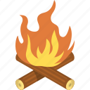 burn, camp, camping, forest, friend, friends, mountain, mountains, night, orange, trip, trips, wood, yellow icon