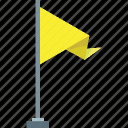 flag, tag, yellow icon