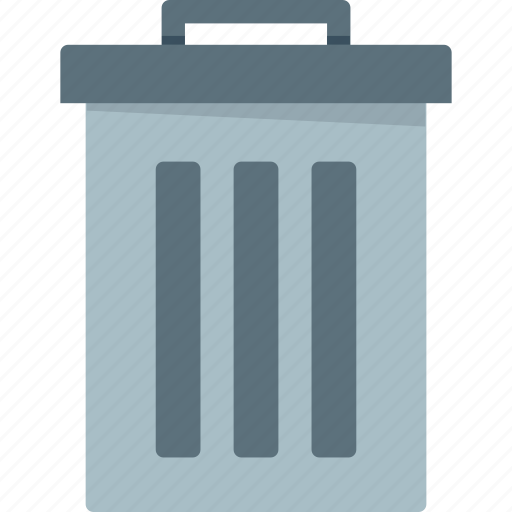 bin, can, delete, dump, empty, full, garage, garbage, junk, muck, recycle, recycle bin, refuse, remove, rubbish, sweepings, swill, trash, waste icon