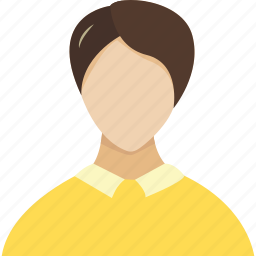 account, avatar, face, friends, group, human, male, man, men, people, person, profile, user, users, yellow icon