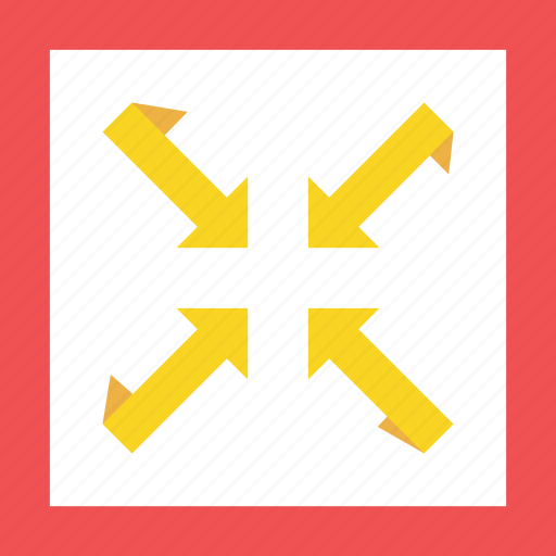 arrow, arrows, bottom, down, full, left, low, minimum, oor, red, right, top, up, yellow icon