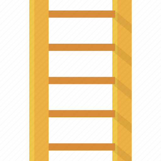 bottom, down, escalator, home, ladder, object, office, orange, rail, shopping, stair, staircase, stairs, step, steps, top, up, wood icon