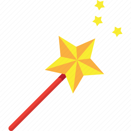 enchantment, graphic, hat, interface, interfaces, internet, magic, red, star, stars, theurgy, tool, tools, wand, wizard, yellow icon
