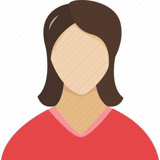 avatar, face, girl, human, people, person, profile, red, user, users, woman, women icon