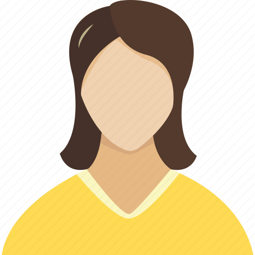 avatar, brown, face, faces, female, friend, friends, girl, group, human, people, profile, user, users, woman, women, yellow icon