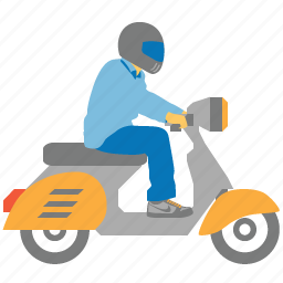 bike, courier, delivery, motorbike, motorcycle, shipping, transportation icon