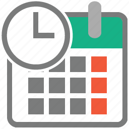 calendar, clock, date, event, month, time, timetable icon