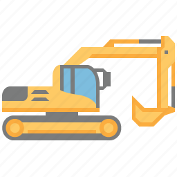 dig, digger, excavator, industry, power, shovel, vehicle icon