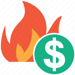 accident, burn, damage, fire, flame, insurance, problem icon
