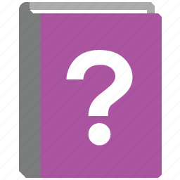 about, book, faq, help, mark, question, support icon
