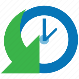 arrow, calendar, clock, event, history, schedule, time icon