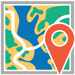 gps, location, map, pin, pointer, road, travel icon