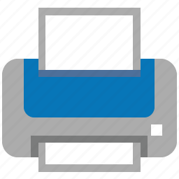ink, laser printer, lpt, paper, print, printer, printing icon