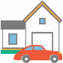 asset, car, home, hotel, property, real estate, rent icon