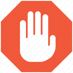 cancel, danger, error, forbidden, no, stop hand, warning icon