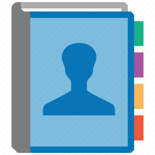 address book, clients, contact, contacts, customers, notebook, users icon