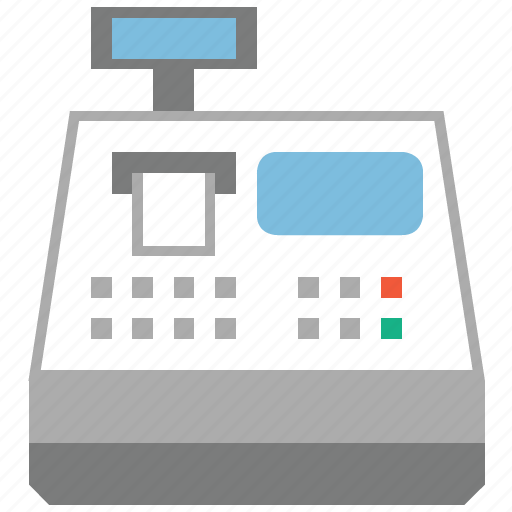 buy, cash register, dollar, money, order, payment processor, shopping icon