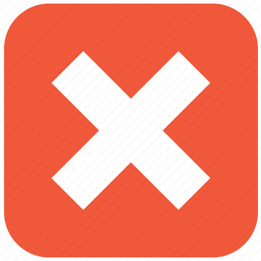 close, delete, error, exit, remove, stop, x cross icon