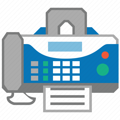 equipment, fax, faxing, machine, message, phone, telephone icon