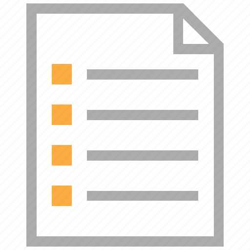 document, file, menu, note, report, schedule, task list icon