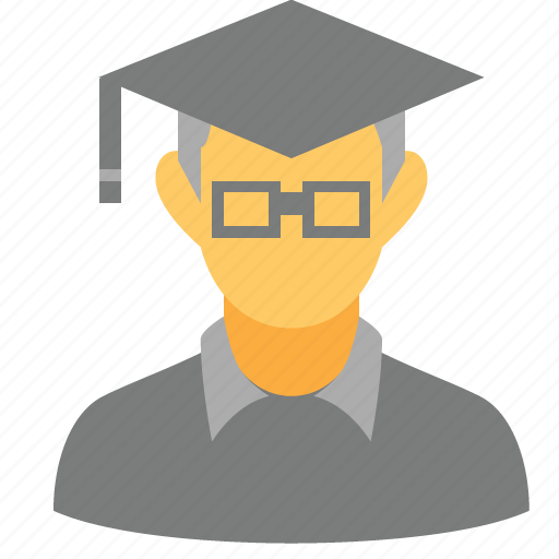 education, graduation, guru, professor, school, student, teacher icon