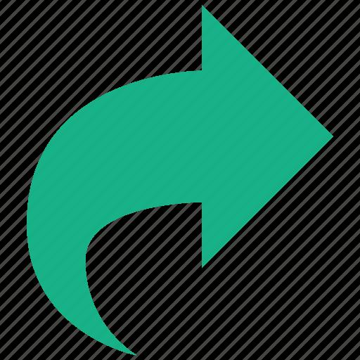 arrow, forward, move, redo, repeat, right, rotate icon