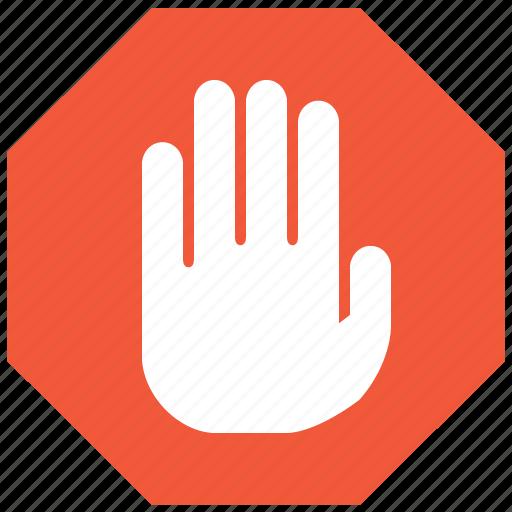 Cancel, danger, error, forbidden, no, stop hand, warning ...