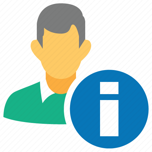 about, info, information, male, man, patient data, user profile icon