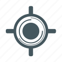 gps, target icon