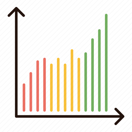 chart, growth, increase, performance icon