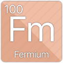 atom, atomic, element, fermi, fermium, periodic, periodic table icon