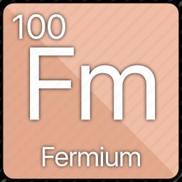 atom, atomic, element, fermi, fermium, periodic, periodic table icon