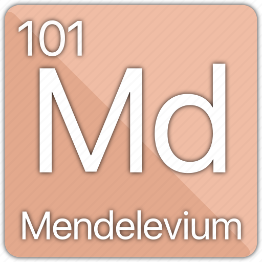 atom, atomic, element, mendelevium, periodic, periodic table icon