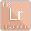 atom, atomic, element, lawrencium, periodic, periodic table icon
