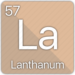 atom, atomic, element, lanthanum, periodic, periodic table icon