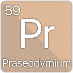 atom, atomic, element, periodic, periodic table, praseodymium icon