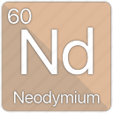 atom, atomic, element, neodymium, periodic, periodic table icon