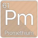 atom, atomic, element, periodic, periodic table, promethium icon
