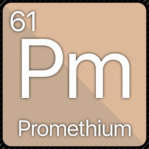 atom, atomic, element, periodic, periodic table, promethium icon