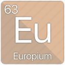 atom, atomic, element, europium, periodic, periodic table icon