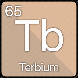 atom, atomic, element, periodic, periodic table, terbium icon