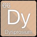 atom, atomic, dysprosium, element, periodic, periodic table icon