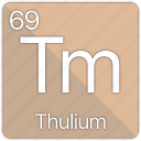 atom, atomic, element, periodic, periodic table, thulium icon