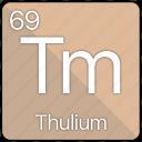 atom, atomic, element, periodic, periodic table, thulium icon