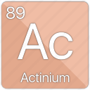 actinide, actinium, atom, atomic, element, periodic table icon