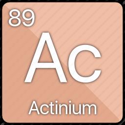 actinide, actinium, atom, atomic, element, periodic table icon